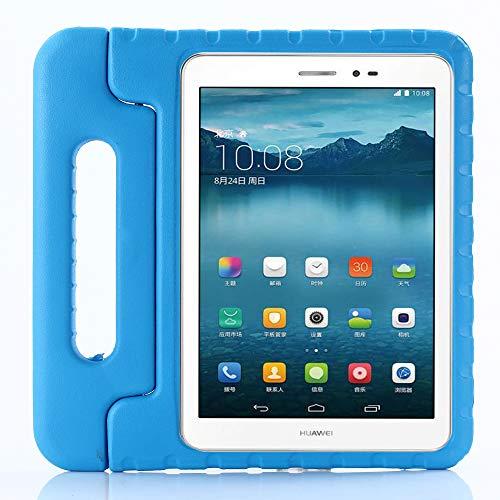 ZiHang Cover Huawei MediaPad T3 10, Custodia Protettiva Antiurto con Supporto Maniglia per Bambini per Huawei MediaPad T3 10 Tablet (Blu)