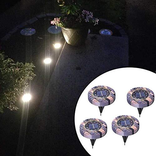 Wavel 4 pièces lumières solaires au Sol, éclairage extérieur éclairage décoratif de Jardin étanche, Facile à Installer et à économiser la Facture d'électricité