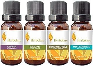 Paquete los 4 básicos Herbolare 5 ml. Lavanda, Eucalipto,
