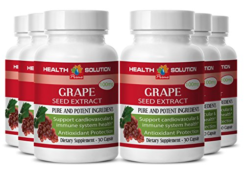 Grape Seed Extract Powder - Grape Seed Extract- Powerful antioxidant (6 Bottles)