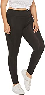Yii ouneey Women's Plus Size Leggings with Pockets Yoga Workout Pants High Waist Running Sports Gym Fitness Tights Trousers