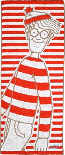 丸眞 フェイスタオル ウォーリーをさがせ 34×80cm ボーダーウォーリー 無撚糸使用 綿100% 4905000900