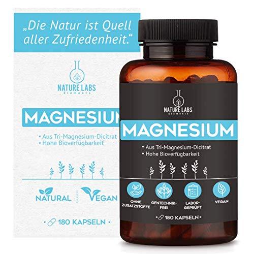 Magnesium Kapseln – 360mg Magnesium aus Trimagnesiumdicitrat pro Tagesdosis – hochdosiert, vegan, ohne Zusätze, laborgeprüft made in Germany – schnelle Aufnahme