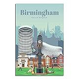 ASFGH Vintage-Reise-Poster Birmingham, dekoratives