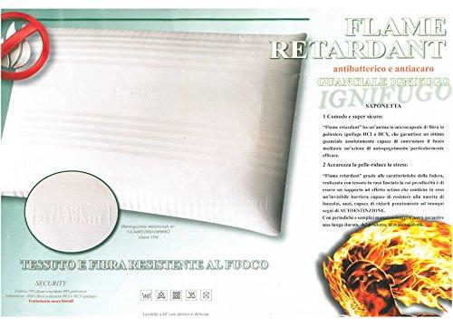 Euroricami Viterbo Guanciale Ignifugo 50 x 80 cm Antibatterico Antiacaro Made in Italy