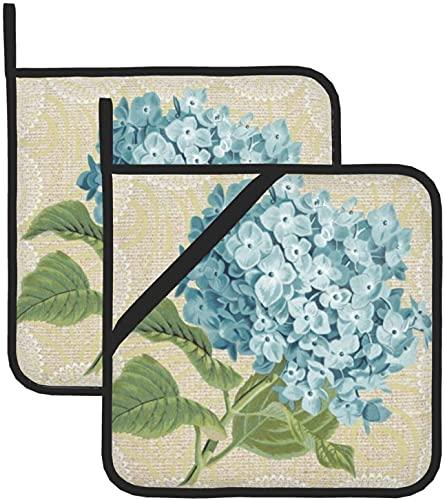 Blaue Hortensien & Spitze Blumen Vintage...