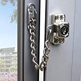 ステンレススチールの窓の鎖のロックガードのドアの制限子フラットオープンWindowsの子供の安全セキュリティチェーンロックアンチ盗難ホームハードウェアキー