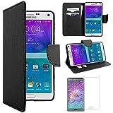 ebestStar - Funda Compatible con Samsung Note 4 Galaxy N910F Carcasa Cartera Cuero PU, Funda Ranuras...