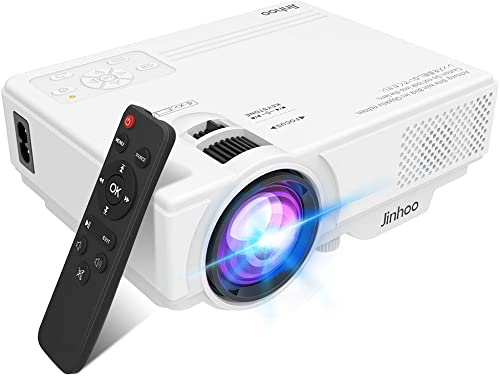 2020 Newest, Jinhoo Mini Overhead Projector Full HD 1080P Supported, Home Theater Outdoor Movie Projector with 176'' ...