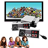 Classic Video Game Console, Classic Mini Console -Built-in with 620 Classic Retro Games Dual Players Mode Console and Nostalgic Arcade Games with 2 Controllers Handheld Games for Kids & Adults (Small)