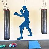 48x88cm Boxer Boxe Silhouette Sport estremi Combattimento Sport Decorazione domestica Wall Sticker