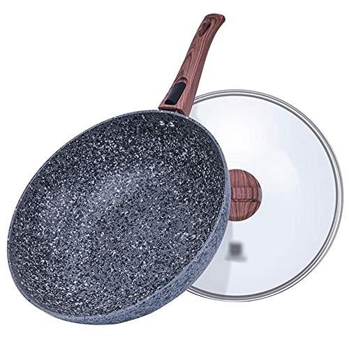 Sartenes Wok Sartén Antiadherente Cocina multifunción para el hogar Cocina de inducción Cocina de Gas Olla Universal