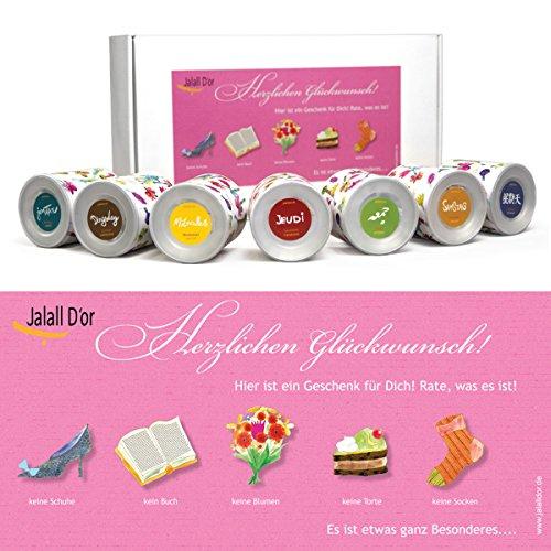 Geschenkbox GLÜCKWUNSCH FRAU von Jalall D'or   ausgefallenes GEBURTSTAGSGESCHENK Frauen   mit PREMIUM Trockenfrüchten & Nüssen   Geschenk für Frauen