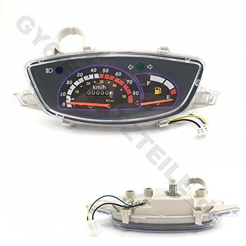 TACHO/TACHOMETER/COCKPIT z.B.für REX RS400 / RS460 BENZHOU YIYING YY50QT-14 TOP SPEED REX RS460 BOSTON 8 ZNEN ZN50QT CHINA ROLLER GY6