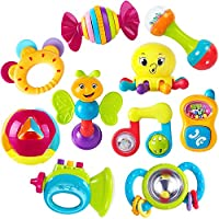 Iplay iLearn 10-Pieces Baby Rattles Teether Musical Toy Set