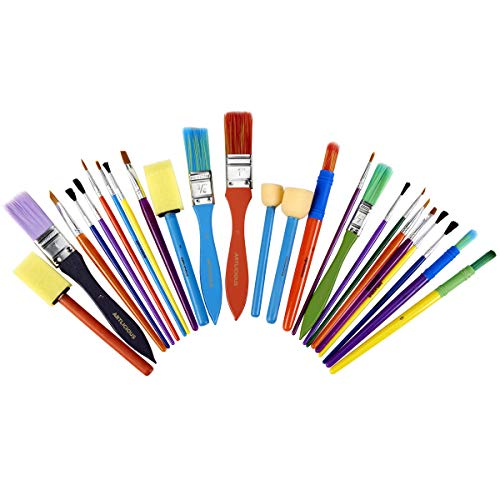 Artlicious - All Purpose Kids' Paint Brush Set (25 Brushes)