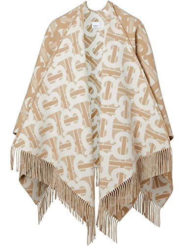 Luxury Fashion | Burberry Dames 8022741 Beige Wol Poncho's | Lente-zomer 20