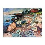 Kunstdruck Poster - Edvard Munch Shore with Red House -