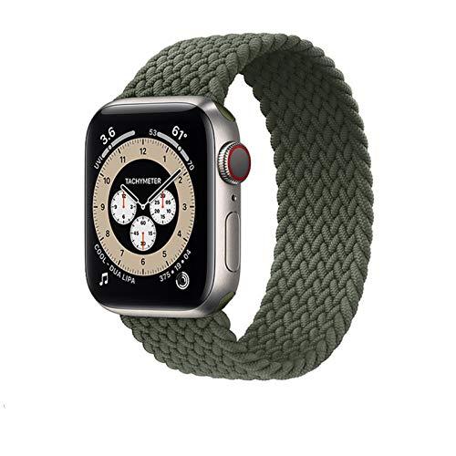 DXFFOK 2021 Nueva Correa de Bucle Solitario de Nylon elástico para Apple Watch Band 6 SE 5 3 Bandas 44mm 40 mm Correa Correa Pulsera para i Watch Series 6 5 4 2 Reloj Correa