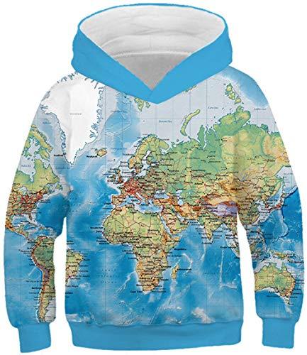 Besuchte Länder Damen Hoodie Kleid Europakarten Design