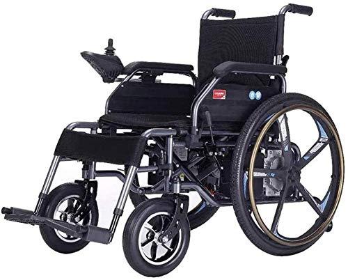 mjj Silla de ruedas plegable de aluminio para personas mayores y usuarios desactivados