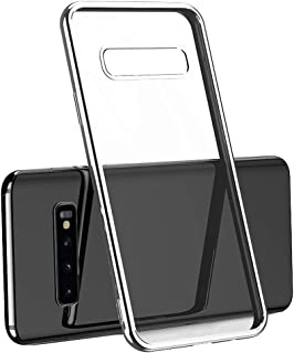 Galaxy S10 Plus Case, ★Auppova★Ultra Slim Hybrid Hard Clear Tempered Glass Back Cover Compatible with Samsung Galaxy S10/Galaxy S10 Plus - Clear