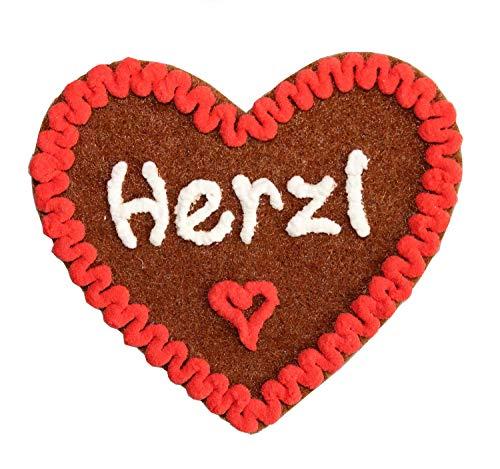Anstecker Filzherz Herzl für Junggesellinnenabschied Junggesellenabschied Oktoberfest Dirndl Accessoires mit Namen - Namensschild Herz personalisiert Button Brosche Ansteckbutton Wunschbeschriftung