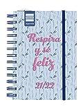 Finocam Agenda 2021 2022 2 Días página Septiembre 2021, Agosto 2022 12 meses 8º, 120x169 Mini-Institut Feliz Español