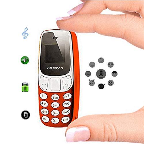 Vbestlife Mini Teléfono Móvil de Bluetooth,Teléfono Móvil Ayuda Tarjeta SIM Dual gsm,Doble Tarjeta de Doble Modo de Espera,Reproductor de Música MP3 / MP4(Rojo)