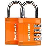 Candado Fortlocks ? Candado De Combinación De 4 Dígitos para Casilleros, Ventanas, Estuches Y Cobertizos, Resistente, Combinación Reajustable, Resistente Al Agua Y A La Intemperie