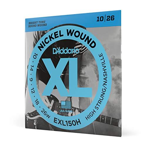 D'Addario EXL150H - Juego de cuerdas para guitarra eléctrica de níquel, .010 - .026