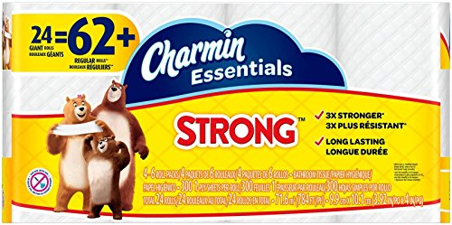 Charmin Essentials Strong Toilet Paper, Bath Tissue, Giant Roll, 24 Count