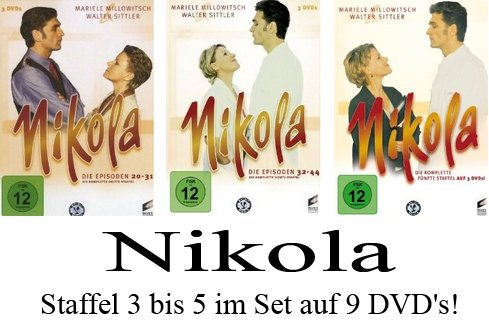 Nikola - Staffel 3+4+5 im Set [9DVDs]