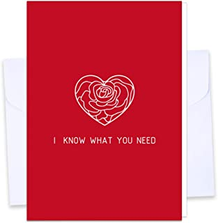"""SICOHOME Greeting Cards for Valentine`s Day,4""""x 6"""" Romantic Anniversary Card, Birthday Card, Sweetest Day Card"""