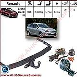 Attelage remorque avec Faisceau 7 broches | Renault Grand Megane Scenic III de 2009- | col de cygne démontable avec outil