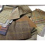 Scampoli in tessuto Tweed, misure e motivo casuali, confezione da 1 kg