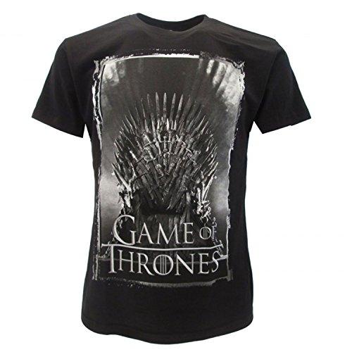Games of Thrones - Camiseta original de Juego de Tronos, color negro, con etiqueta y etiqueta de originalidad
