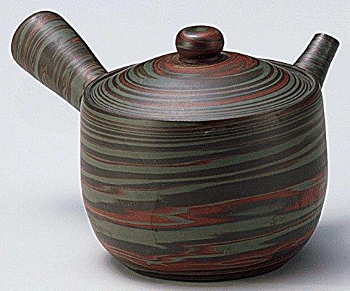 Yamakiikai japonés Tokoname cerámica Kyusu Tetera Mass Pigmentación 210 CC con colador Integrado FY1945 LY1860 de Japón