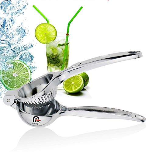 Mosaic Zinc Alloy chrome finish Lemon Lime Squeezer with High Strength, Manual...