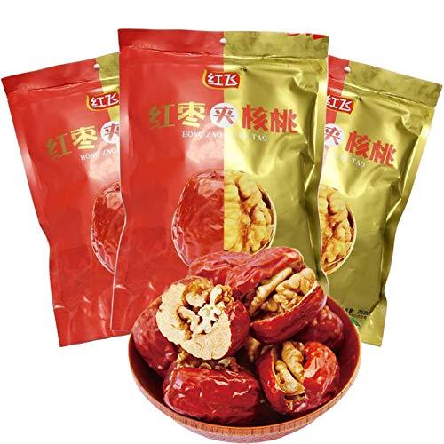 紅棗夾核桃【3袋セット】 干し赤棗とクルミの組み合わせ 栄養たっぷり 人気お菓子 中華食材 258gX3袋