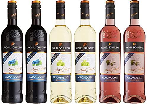 Michel Schneider Cabernet Sauvignon Rotwein Alkoholfrei (1 x 0.75l) + Chardonnay Weißwein Alkoholfrei (1 x 0.75 l) + Merlot Rosé Lieblich Alkoholfrei (1 x 0.75 l)