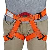 ENJOHOS Arnés de escalada Cintura Protección de la Cadera Cinturón de Seguridad Medio Cuerpo para Escalada en árboles, Montañismo, Rescate de Incendios, Espeleología de Nivel Superior, Rapel (naranja)