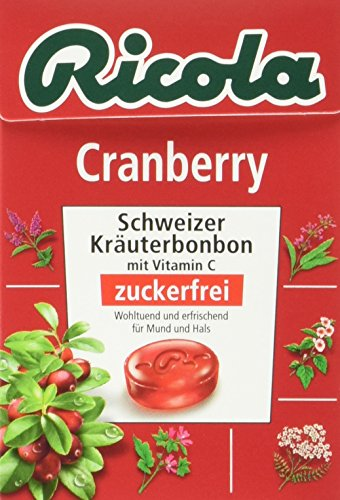 Ricola Box Cranberry, 20er Pack (20 x 50 g)