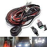 Safego Câblage à barres lumineuses LED Faisceau de Fil avec Relais et Interrupteur 12V 40A pour SUV ATV et Camion Tout-terrain
