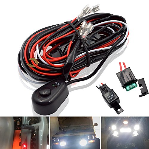 Safego LED Light Bar Relais bedrading Harnas Controller Kabel Zekering Voor Auto Motor Werk Lampen Waterdichte 12 V 40 Amp 20AWG WR-40A-FR
