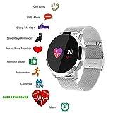 Bluetooth reloj inteligente Smartwtach deporte pulsera inteligente conectado a prueba de agua Rastreadores de actividad con pantalla táctil para iPhone iOS y Andoird