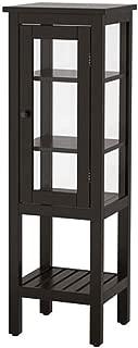 IKEA Hemnes High Cabinet with Glass Door Black-Brown 303.966.41 Size 16 1/2x15x51 5/8