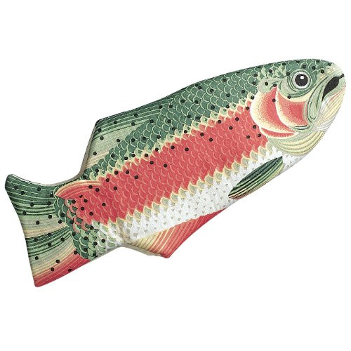 Rainbow Trout Oven Mitt, Quilted Cotton, Designed for Light Duty Use, by Boston Warehouse - 25123