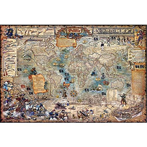 IQ Challenge puzzel 1000/2000/3000/4000/5000 Stukken Pirate World Map leerrijke puzzel speelgoed Vaderdag,2000PCS