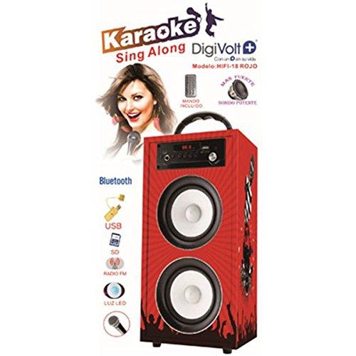 Altavoz karaoke + bluetooth digivolt hifi-18 la vo hifi18r